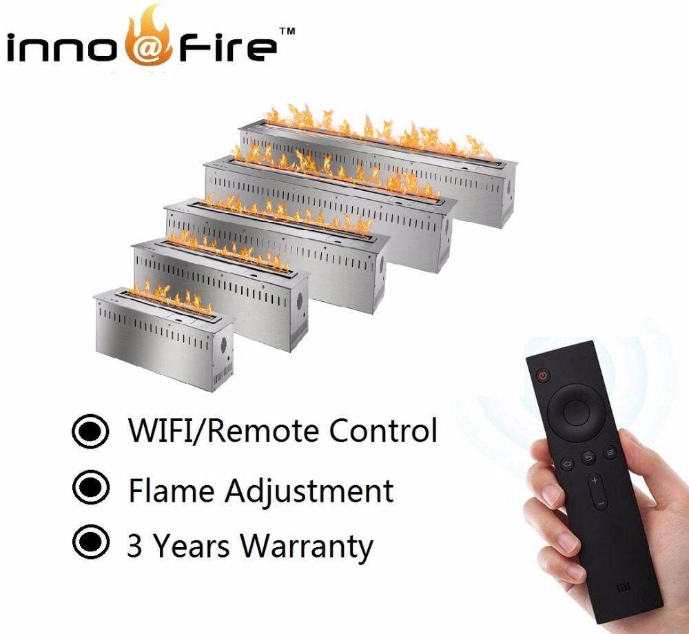 On Sale 24 Inch Remote Control Black Sliver Bioethanol Fireplace