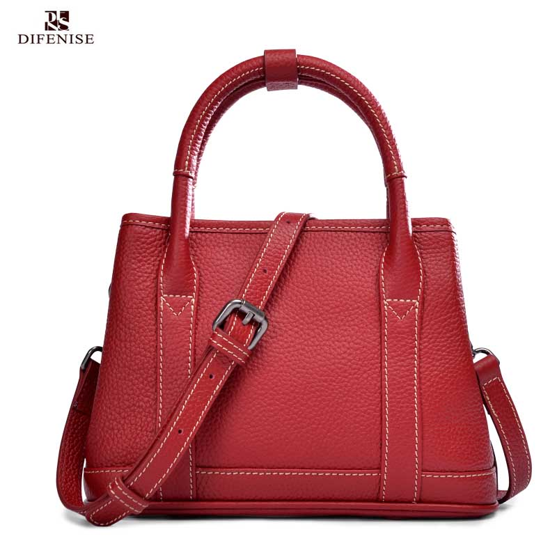 2018 Luxury Genuine Leather Women Handbags Real Cow Leather Casual Tote Bags Factory Handmade Craft Saddle Shoulder Bags 10108