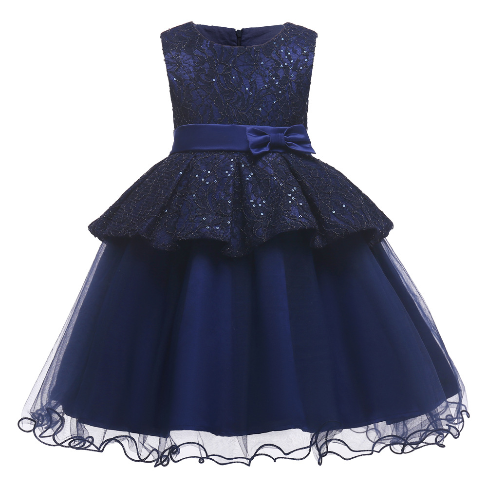 Kids Dresses for Girls 2018 Princess Sequin Pettidress Summer Ball Gown Tulle Dresses Party Bow Dress Elegant Baby Girl Clothes erapinky girl dress kids girls backless dress bow lace ball gown party dresses easter dress for girls 8year old child clothes