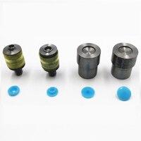 Moulds Drukknoop Sterft voor Handpers Machine T3, T5 T8 1 cm, 1.2 cm 1.5 cm-15mm, Plastic snaps Kleur knoppen
