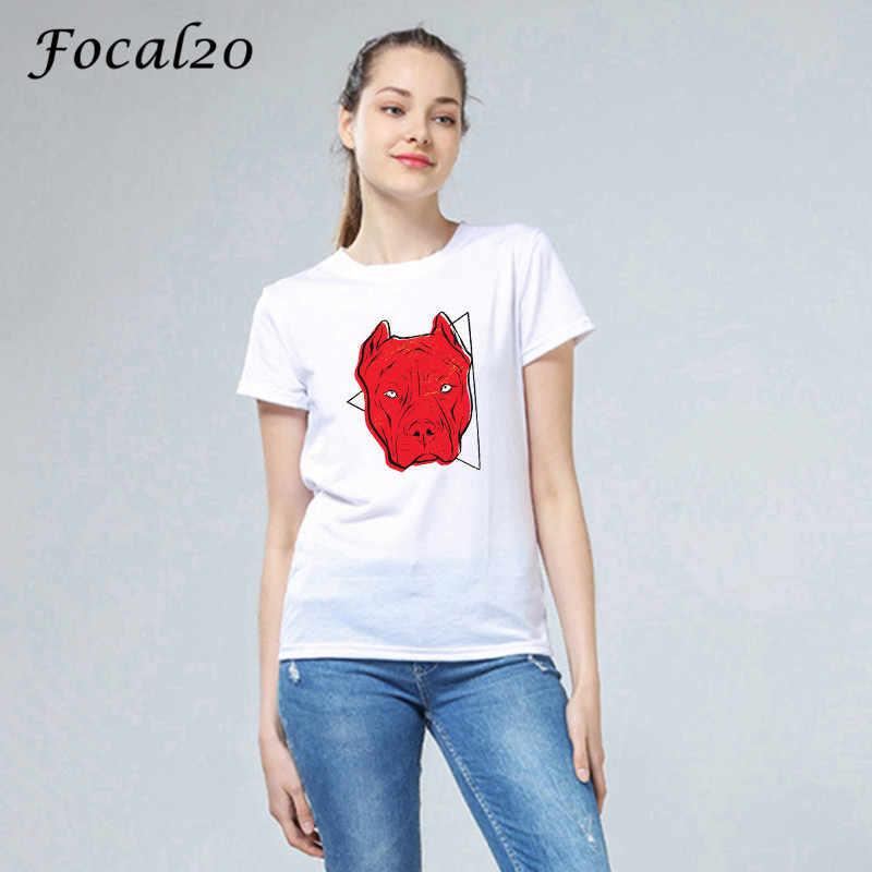 Focal20 おかしい動物プリント女性 Tシャツトップ Tシャツ夏半袖クルーネック春女性ルース Tシャツユニセックストップス tシャツ