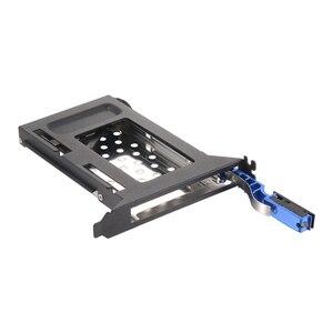 Синий корпус из алюминиевого сплава PCI слот для мобильного телефона Поддержка 2,5 дюйма SATA HDD/SSD для ПК слот расширения SATA3 6 Гбит /с разъем hotswap