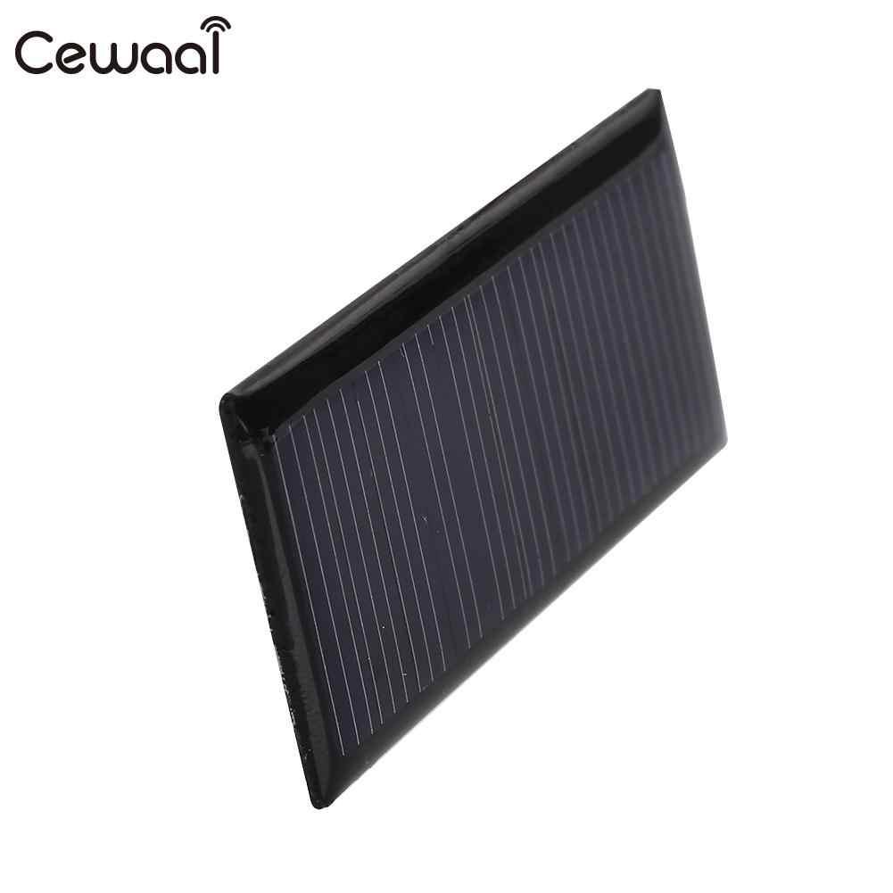 شاحن البولي سيليكون 5V 0.22W 40MA لوحة طاقة شمسية 5V 0.22W لوحة طاقة شمسية صغيرة نانو شحن ل ضوء بطارية شحن الهاتف DIY