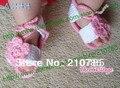 Bebé Sandalias de La Muchacha Del Ganchillo, hecho a mano de ganchillo zapatos de bebé, para la Primavera y el Verano de 50 pares Envío Gratis