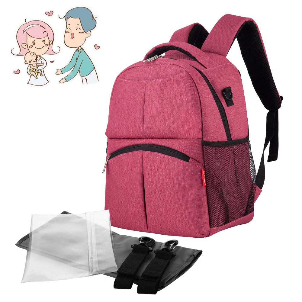 Insular Solid Color Baby Diaper Changing Backpack Bag Multifunctional Baby Mommy Bag Waterproof Mummy Nappy Stroller Backpack цена 2017