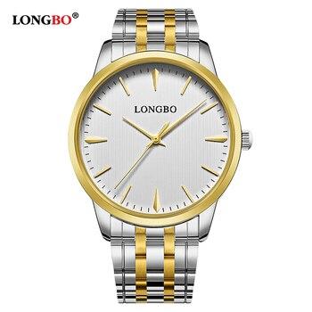 LONGBO Brand Reloj Mujer Hombre Casual Couple Quartz Watch Fashion Men Women Watches Waterproof Simple Lovers Wristwatches 80305 дамски часовници розово злато