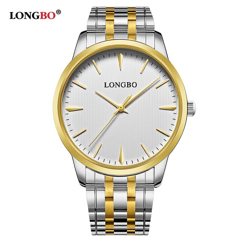 LONGBO Brand Reloj Mujer Hombre Casual Couple Quartz Watch Fashion Men Women Watches Waterproof Simple Lovers Wristwatches 80305