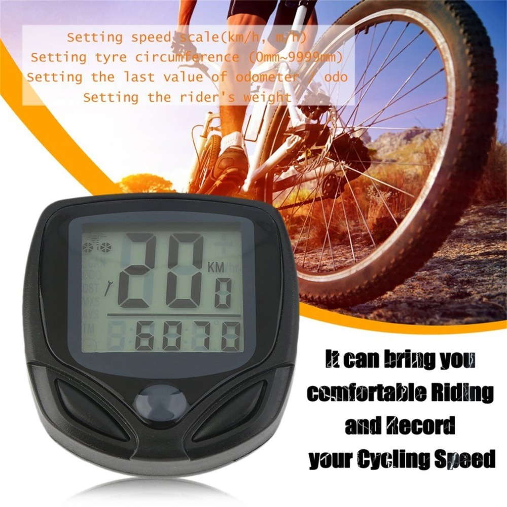 368C LCD Display Waterproof Cycling Wireless Electronic Bike Computer Bicycle Speedometer Odometer Bike Supplies