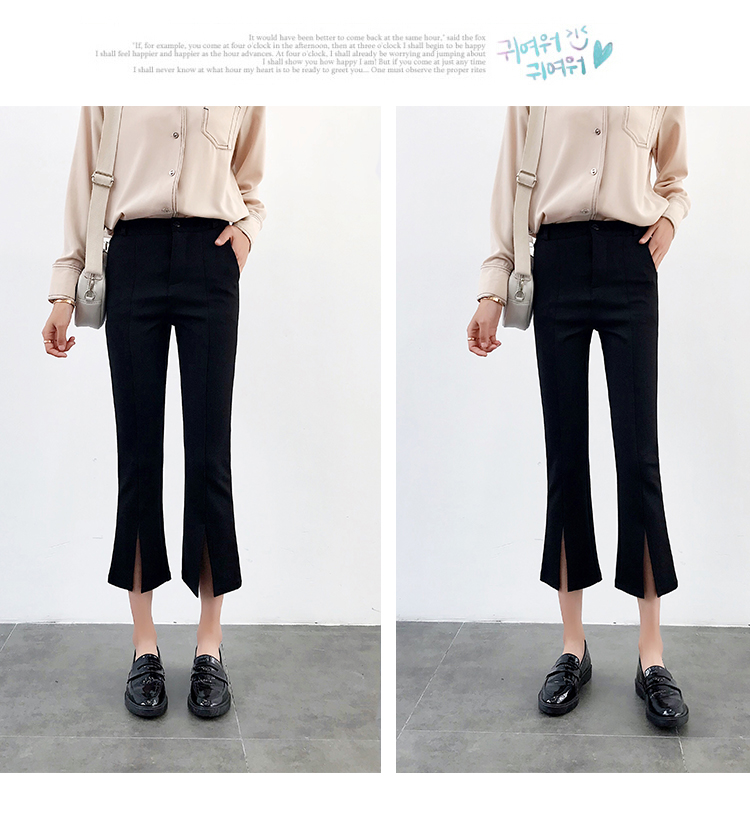 High-waisted Flare Pants Women 2018 Summer New Hot Fashion Female Casual Loose Ankle-length Pants Trousers Bottoms 14