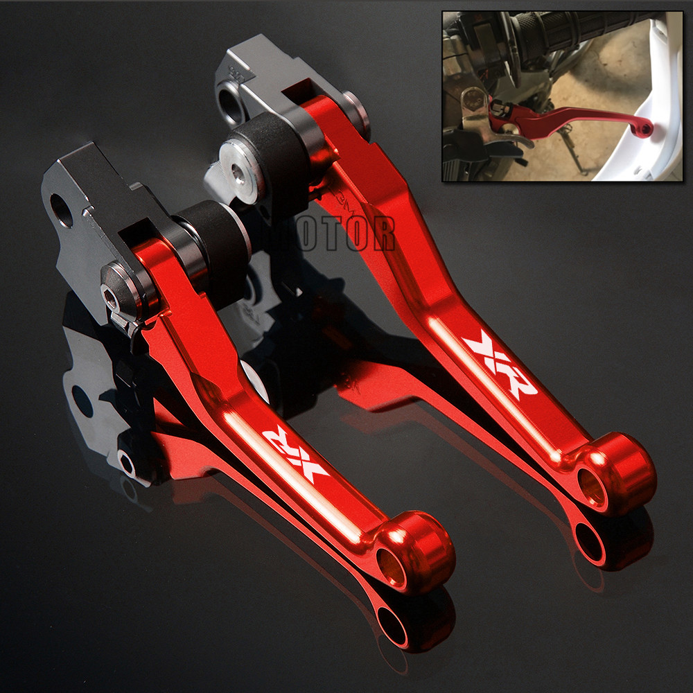 цены For Honda XR250 MOTARD XR230 MOTARD XR400 MOTARD XR400 CNC Pivot Brake Clutch Levers Motorcycle Dirt Bike Lever XR 250 230 400