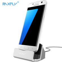 RAXFLY Phone Charger For Samsung Galaxy S7 S6 S5 Edge Desktop Micro Charging Dock Station Portable For Huawei Android Phone(China)