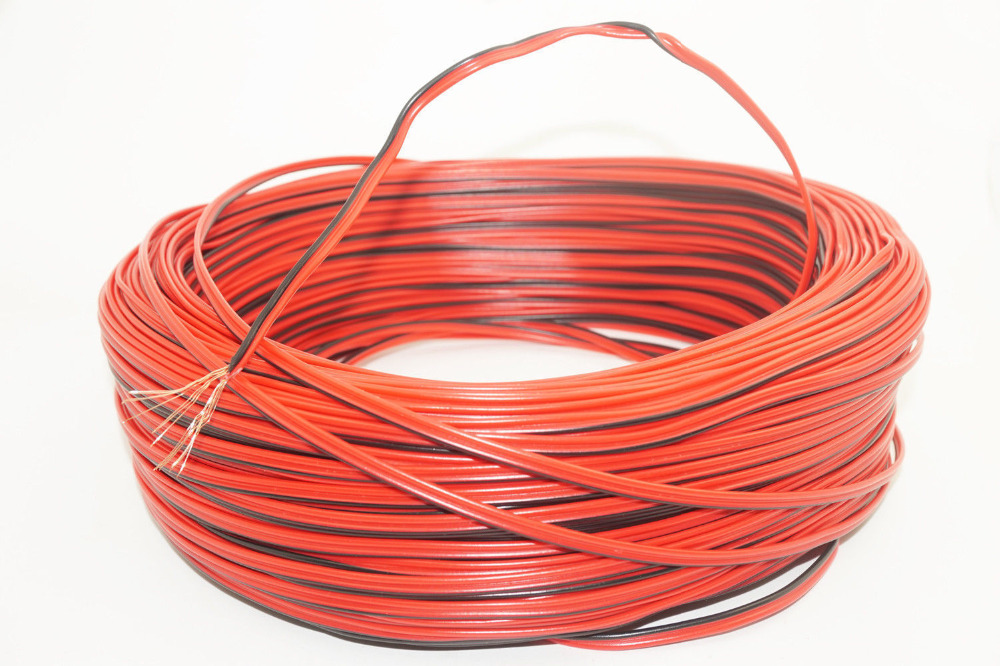 20m 1mm AUTOMOTIVE 12V 24V 2 CORE FLAT TWIN THINWALL RED//BLACK WIRE WIRING LOOM