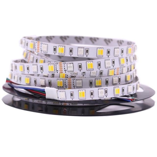 5 M LED Strip Licht RGB CCT RGBW 5050 SMD Led Tape niet waterdicht Led Streep Bar Light String Holiday Decoratie Verlichting 12 V 24 V