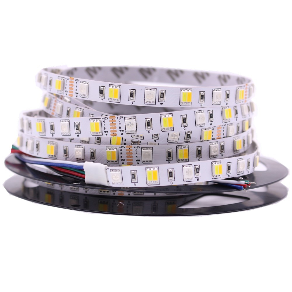 5M LED Strip Light RGB CCT RGBW 5050 SMD Led Tape Non Waterproof Led Stripe Bar Light String Holiday Decoration Lights 12V 24V