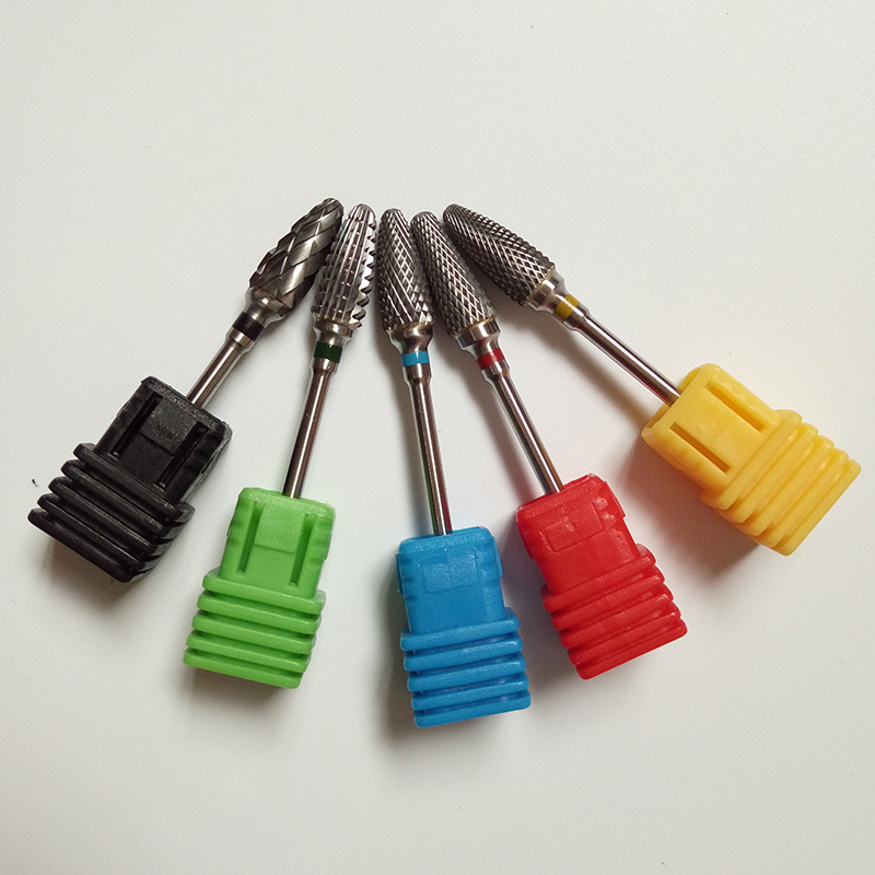 Ny 5st / s-karbid (XC-C-M-F-XF) Nail Art Drill Professional - Nagel konst