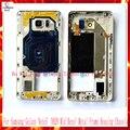 50 Шт./лот EMS DHL Ближний Рамка Для Samsung Galaxy Note5 Note 5 N920 Середина Рамка Металлический Каркас Корпуса Шасси С Частями замена