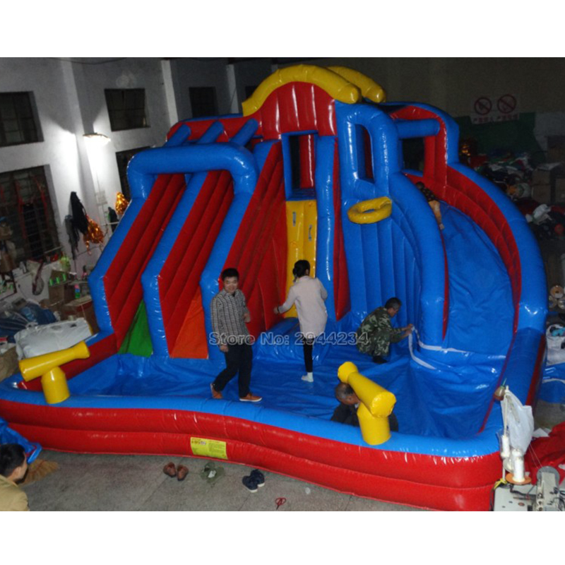 Inflatable Water Slide China: Inflatable Water Slides Pool In Inflatable Bouncer For