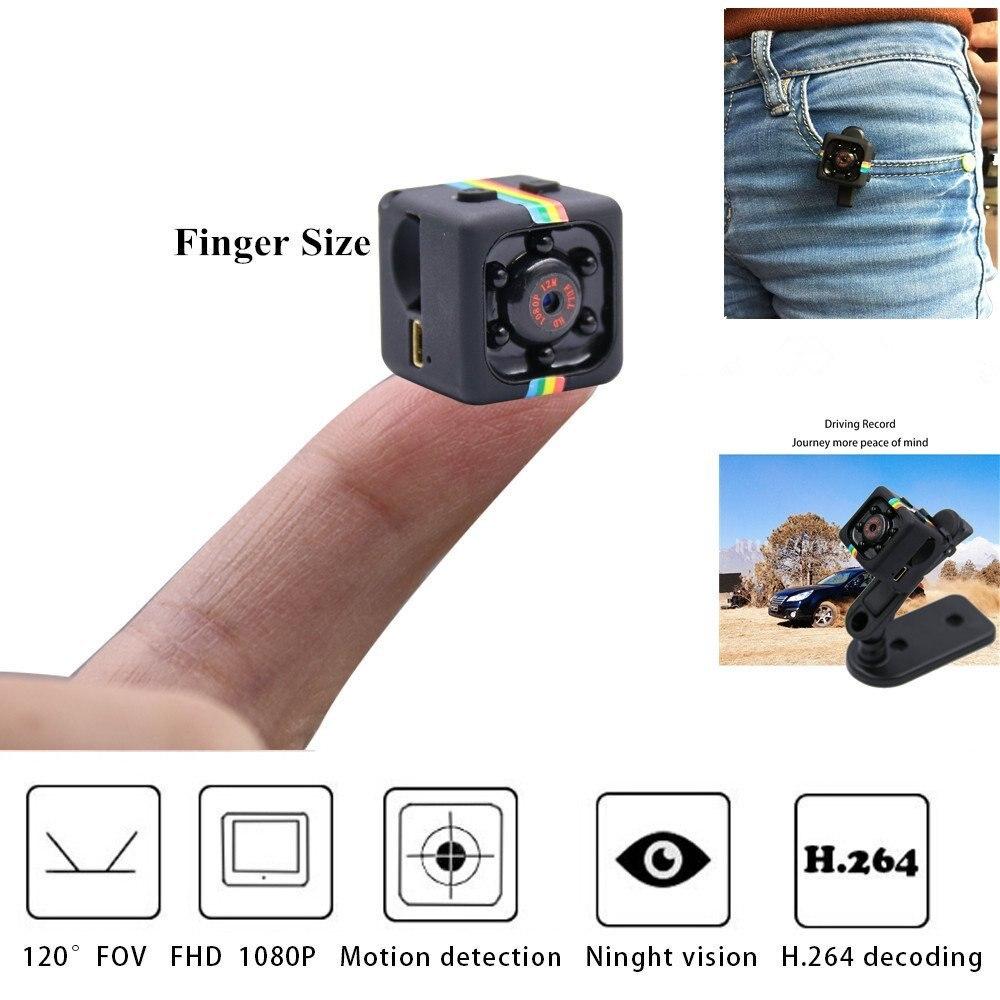 Original Mini Camera SQ11 HD Camcorder Night Vision Micro Camera 1080P Sports Mini DV Voice Video Recorder for Car Driving