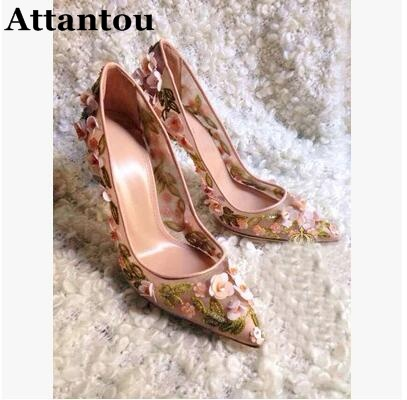 2017 new collection women point toe pumps flowers High Heels wedding pumps thin heel sexy Flora stud bridal shoes 100% original projector lamp vt85lp for vt480 vt490 vt491 vt495 vt580 vt590 vt595 vt695