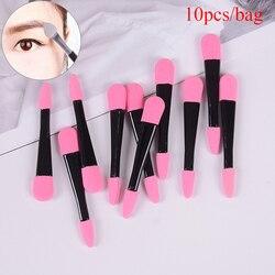 10pcs Double Ended Eyeshadow Applicator Pro Sponge Eye Shadow Make Up Supplies Portable Eye Shadow Brushes Powder Brush