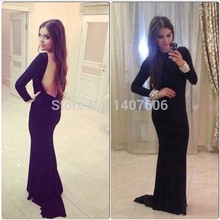 2015 neue Design Vestidos de Festa A Line High NEck Backless Party Kleider Kristalle Prom Kleider Schwarz Abend kleid