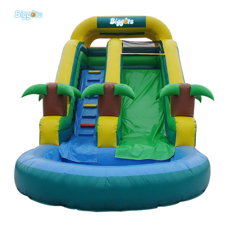 High Quality Cheap Inflatable Pool Slide For Family To Have Fun popular best quality large inflatable water slide with pool for kids