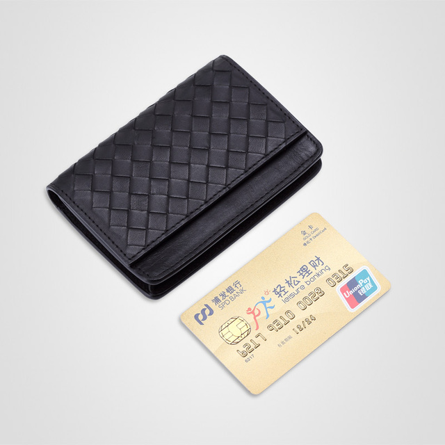 Woven genuine leather card holder cowhide business card holder name woven genuine leather card holder cowhide business card holder name card bag colourmoves
