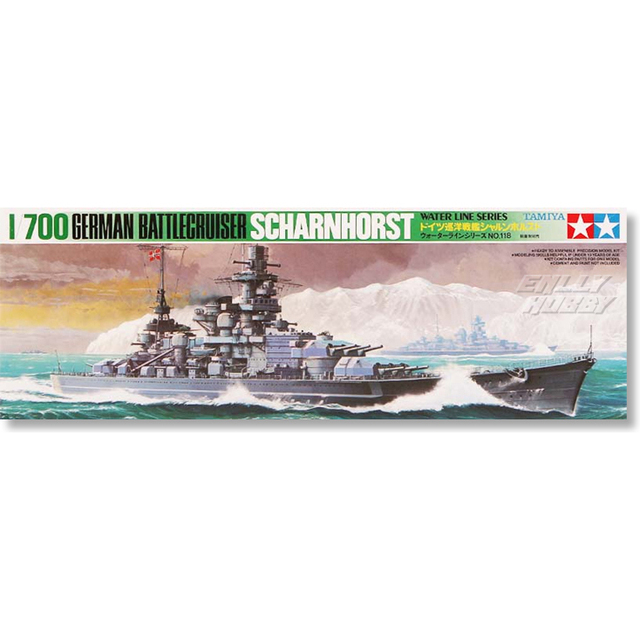 US $23 66 10% OFF| Tamiya 77518 1/700 German Battle Cruiser Scharnhorst  Assembly Scale Military Ship Model Building Kits oh RC toy -in Parts &