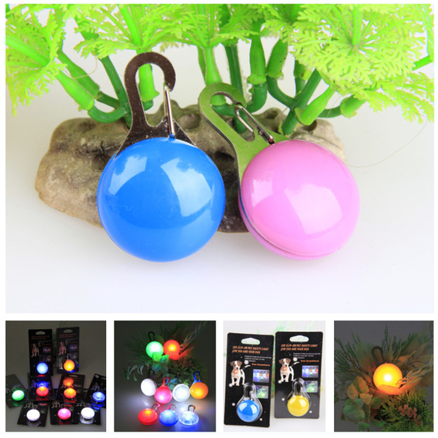 LED Pet Dog Collar Cute Pendant Night Safety Pendant Luminous Night Light Collar Pedant Pet Supplies Dog Accessories