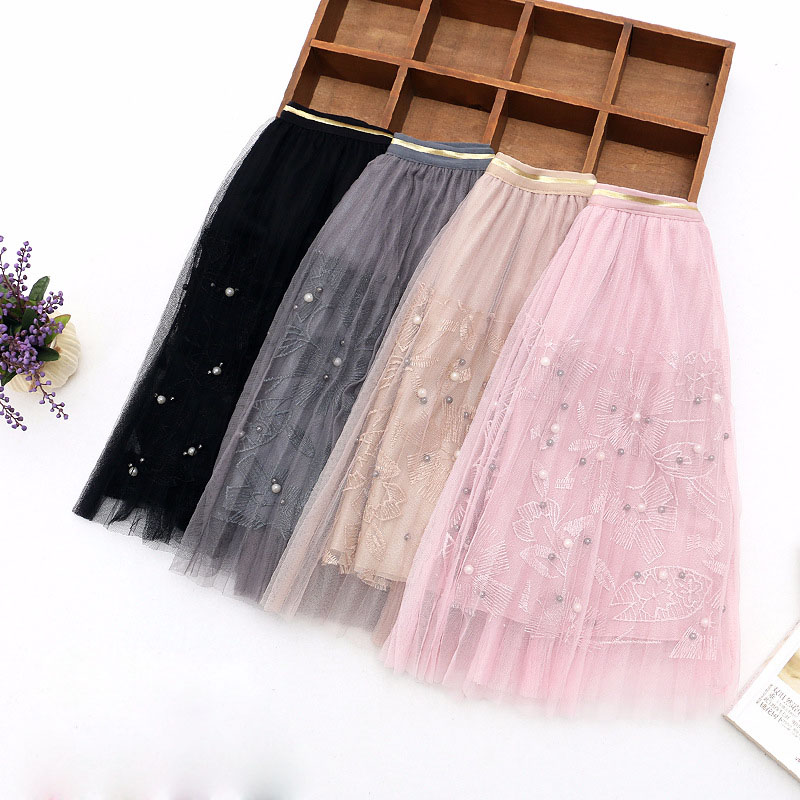 цены на children summer skirt 2018 new baby girls skirts mesh lace kids tutu skirt for girls children princess ball gown skirts 4-13T в интернет-магазинах
