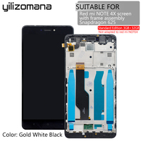 LCD Replacement Parts 5.5 LCDs with Frame for Xiaomi Redmi Note 4x 3GB Snapdragon 625 LCD Display Assembly Screen Free Tools
