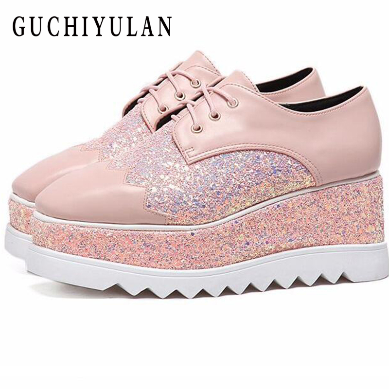 Spring women flats shoes platform sneakers shoes leather Increased within casual shoes slip on flats heels creepers moccasins genuine suede leather women s platform sneakers 2018 women slip on flats creepers moccasins woman casual shoes black pink gray