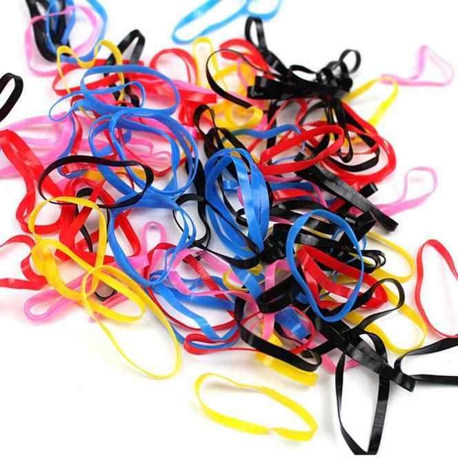 150 Uds. Una sola vez Mini bandas de goma pequeñas trenzas de goma elástica transparentes trenzas de trenzado bandas para pelo para mujer sombreros para niños 1n28