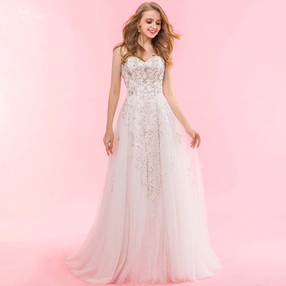 RSW904 yiaibridal trabajo real francés Encaje DOTS tulle sirena ...