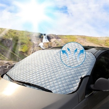 4pcs Magnet car sunshade water drop sunshade front glass visor car windshield snow cover magnetic protection cover KK-3620