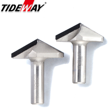 Tideway 1 шт 1/2 «хвостовик алмаз CVD покрытие V Тип фрезы для дерева Endmill Деревообработка резак PCD Фрезерование резак сверла для станков с ЧПУ