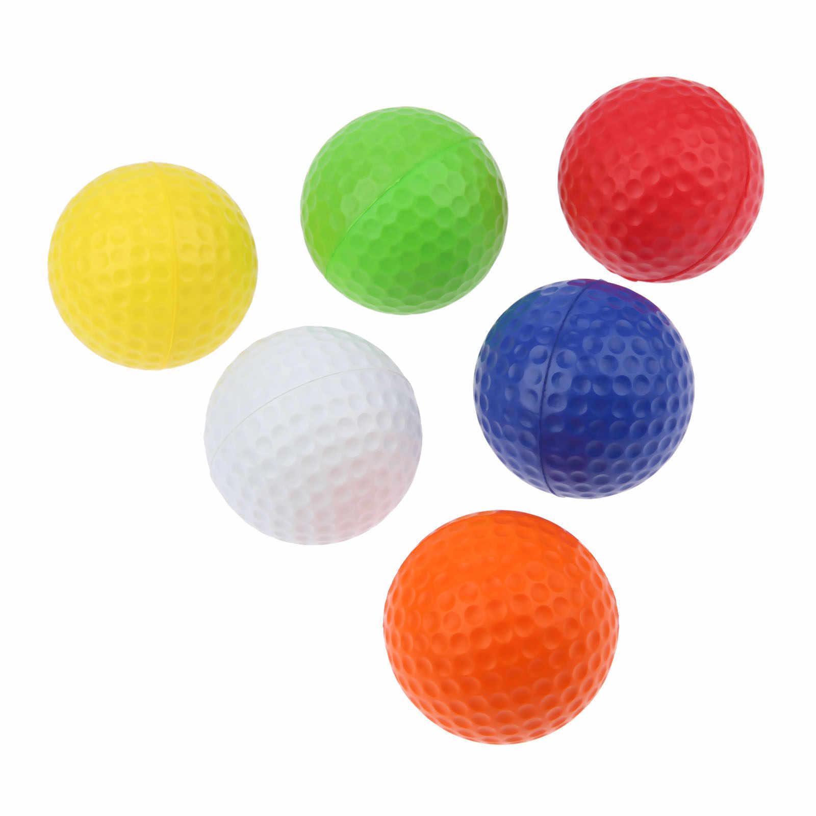 Surieen 20 шт. Крытый губка Гольф Мячи легкая пена Мячи для гольфа Спорт на открытом воздухе губка Гольф обучение шаров 6 цветов ПУ шары