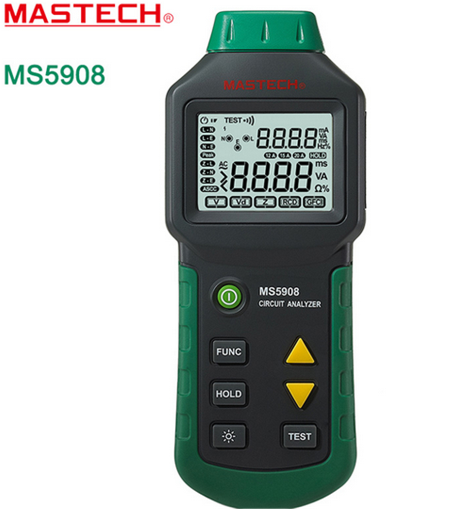 Mastech MS5908 serial ,RMS Circuit Analyzer Tester Compared w/ IDEAL Sure Test Socket Tester MS5908C EU plug