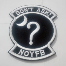Black Ops non Chiedere Toppe e Stemmi Sticker Nessuno di Il Vostro Business NOYFB Area 51 Hook & Loop Morale Tattico Militare di Patch(China)