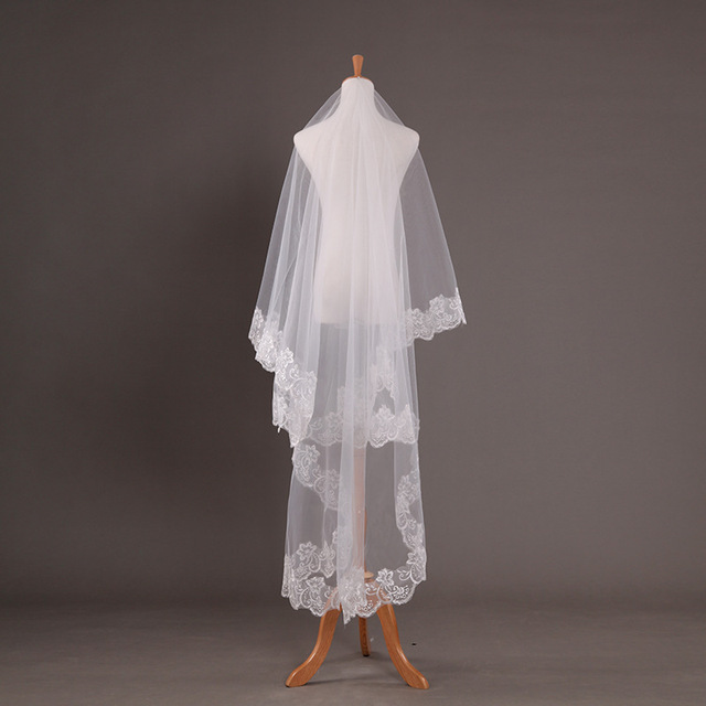 Elegant Wedding Accessories 2.6m White Long Veil