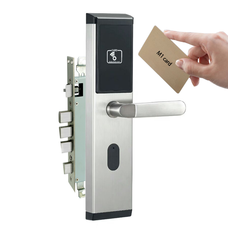 Swipe card door electronic lock card reader door lock using 13.56mhz M1 card unlockSwipe card door electronic lock card reader door lock using 13.56mhz M1 card unlock