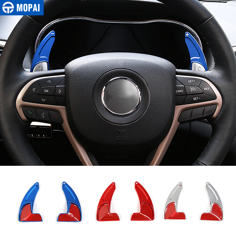 MOPAI ABS Car Interior Steering Wheel Gear Panel Paddle Shift Decoration Trim Cover Stickers For Jeep Grand Cherokee 2014 Up-in Steering Covers from Automobiles & Motorcycles