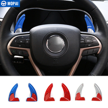 MOPAI ABS Car Interior Steering Wheel Gear Panel Paddle Shift Decoration Trim Cover Stickers For Jeep Grand Cherokee 2014 Up