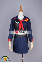 УБИТЬ ла УБИТЬ Matoi Ryuuko единая косплей костюм Хэллоуин аниме dress бесплатная доставка на заказ топ + рубашка + галстук + кираса + гло