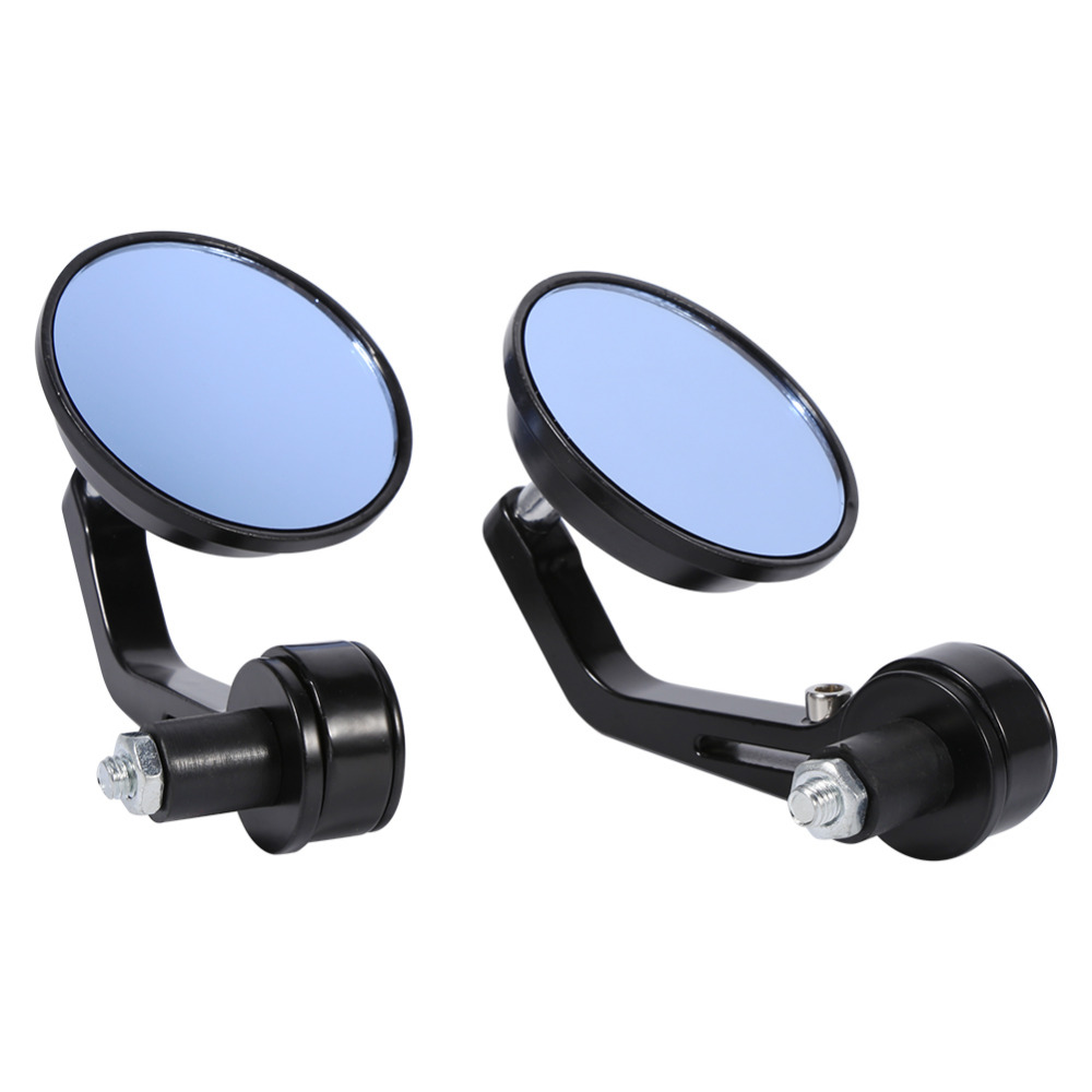 7/8 Round Motorbike Motorcycle Rear View Mirror Handle Bar End Rearview Side Mirrors Chrome Motorbike ATV Scooters Universal