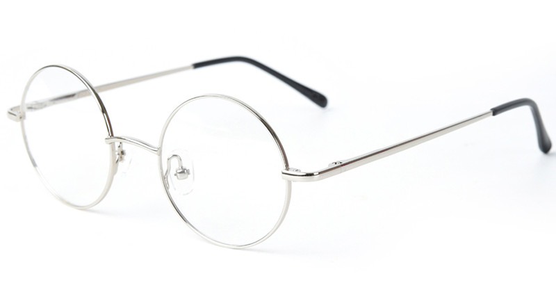 42mm Size Retro Vintage Eyeglass Frame Glasses Round Eyeglass Frames Black Gold Silver Gun Grey Optical RX