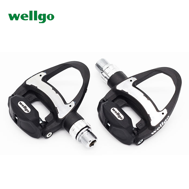 NEW Wellgo R312 Ultra Light Carbon Road Bicycle Pedals Self locking Pedal with 3 Bearing look
