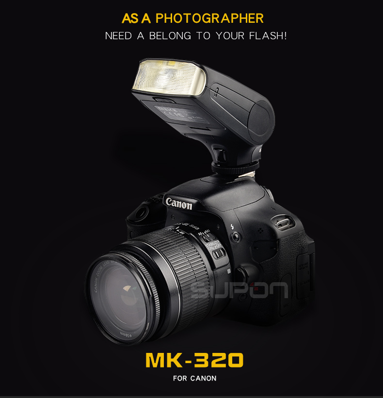 Meike MK320 MK 320 TTL Flash Speedlight for Hot Shoes Flash Camera Canon 760D 750D 700D
