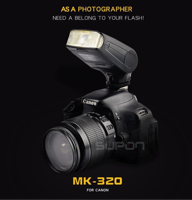 Meike MK320 MK-320 TTL Flash Speedlight pour Chaude Chaussures Flash Caméra Canon 760D 750D 700D 650D 600D 550D 70D 60D 5D III 7D II