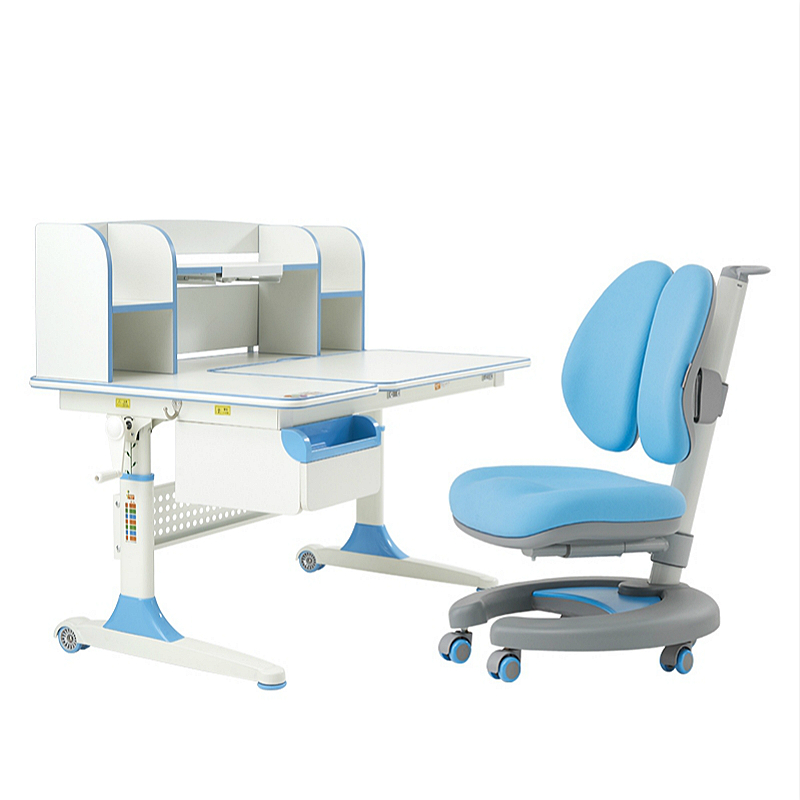 Ergonomic Comfortabel Kids Study Table And Chair Set Lifted Creative Double Backrest Writing Desk Multifunction Adjustable Desk